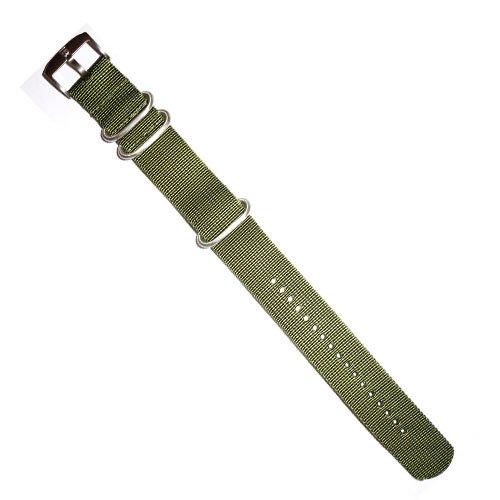(Luminox NATO Nylon Watch Ballistic Strap 22mm 3 Ring Green Color)
