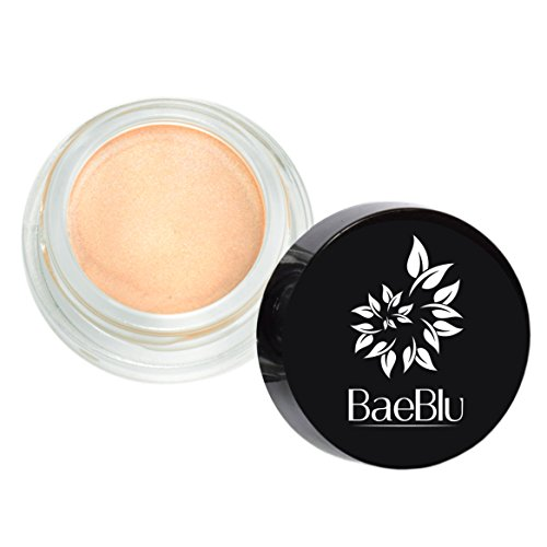 Best Organic 100% Natural Non-GMO Vegan Creamy Shimmer Luminizing Pot for Eyes, Cheekbones & Lips - Rose Gold (Sheer Organic Shimmer)
