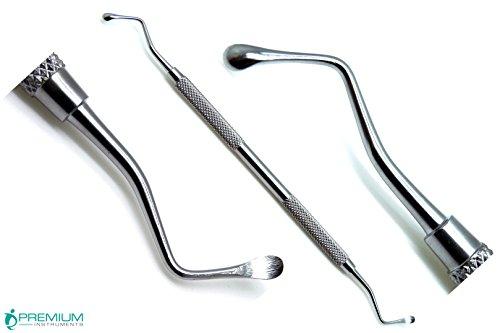 Bone Curettes (Lucas Curettes 88, Bone Spoon Shaped 4.0mm Blades Double Ended Periodontal Surgical Dental Instruments)