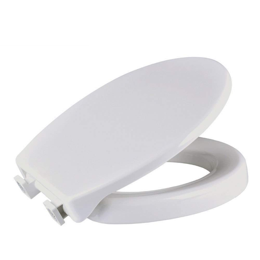 Seats Urea-Formaldehyde Top Mounted Toilet Lid Suitable for Families Hotels Bathrooms Suitable for Families Hotels Bathrooms Mounting Aperture Length: 13.5~17.5cm (White) by ankt777