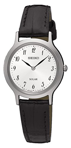 Seiko Women's Analogue Solar Powered Watch with Leather Strap SUP369P1 (Seiko Leather Womens)
