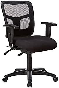 """Lorell  Managerial Mid-Back Chair,25-1/4""""x23-1/2""""x35""""-41-3/10"""",BK"""