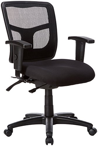 - Lorell 86201 Ergomesh Chair, Mesh Back/Black Fabric Seat