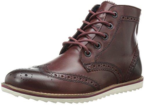 (Crevo Men's Boardwalk Wing Tip Boot, Wine Leather, 9 M US )