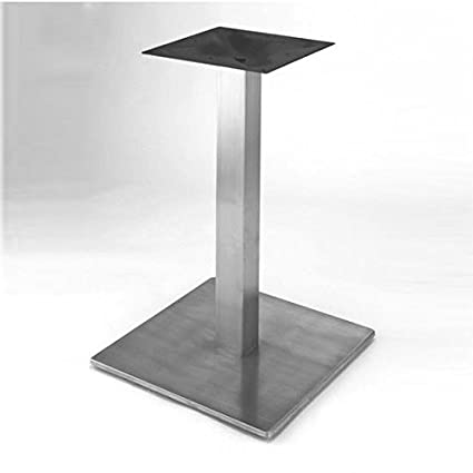 Amazoncom Steelbase Nikai Stainless Steel Square Counter Height - 30 inch table base