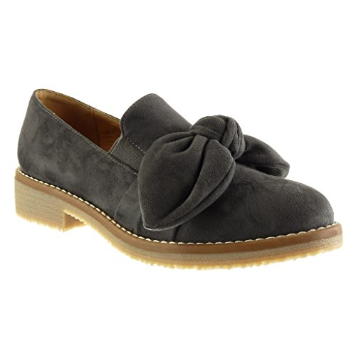 Mocassini cuciture Tacco Moda nodo impunture donna Scarpe on CM da slip blocco a finitura 3 Angkorly qwtzx4