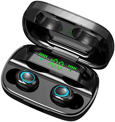 nurrat True Wireless Earbuds, Wireless Hi-Fi 5.0 Earbuds, Mini Noise Cancelling in-Ear Headphones Built-in MIC, 8D Stereo Sound IPX7 Auto-Pair Earbuds,