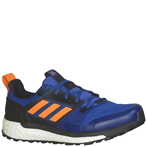 (adidas outdoor Men's Supernova Trail Hi-Res Blue/Hi-Res Orange/Black 8.5 D US)