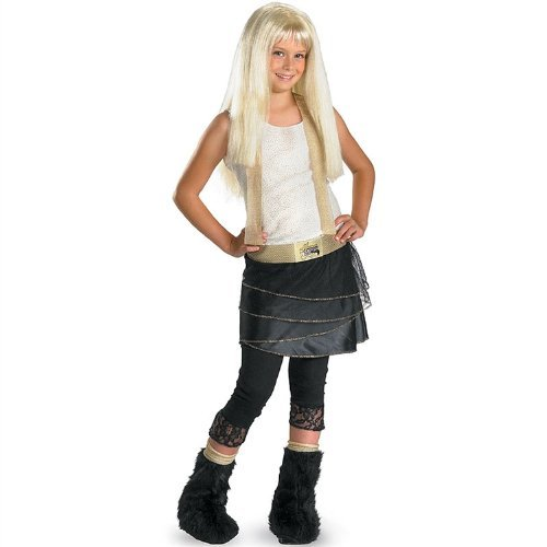 Hannah Montana with Wig Deluxe Costume: Girl's Size 4-6X (Wig Deluxe Montana Hannah)