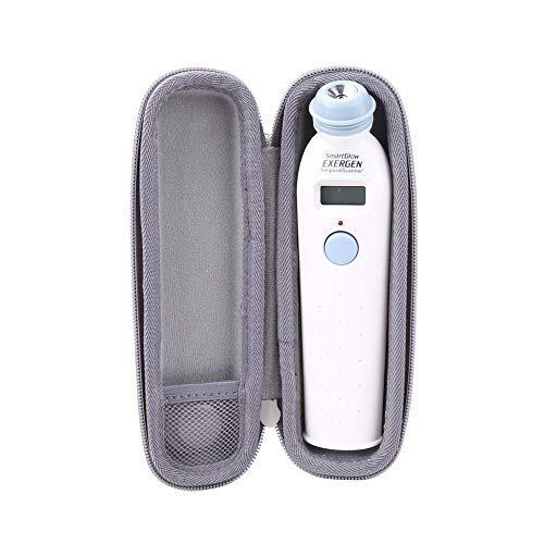 Aenllosi Hard Carrying Case for Exergen Temporal Scan Forehead Artery Baby Thermometer Scanner Grey