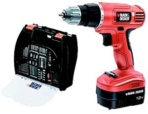 Black & Decker Rechargeable Drill Driver 12V With 100 Accessories And Kitbox (EPC12100K-QW)