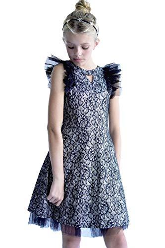 Smukke, Big Girls Beautiful Dresses (with Options), 7-16 (Black Silver, 12)]()