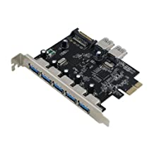 Sedna - PCIE 7 Port USB 3.0 Adapter (NEC chipset , Supporting Windows 8 UASP) with Floppy Bay Front Panel