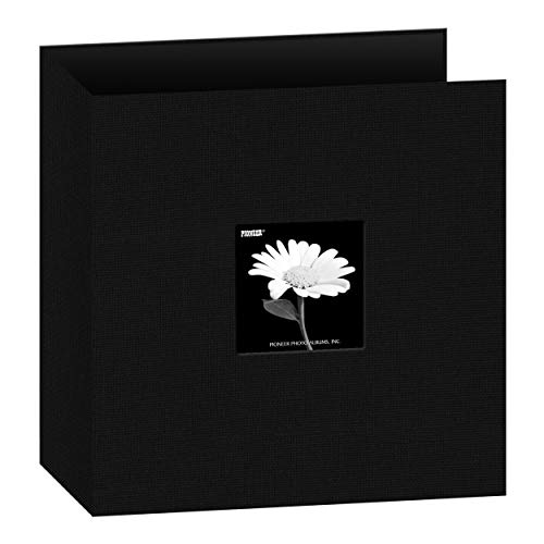 Pioneer T-811CBFBK 8 1/2 Inch by 11 Inch 3-Ring Fabric Frame Cover Memory Binder, Deep Black 3 Ring Memory Albums