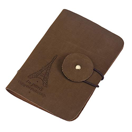 Retro Eiffel Wallet D Holder ID Credit Bag Business Dark JESPER Tower Case Card Brown 5dq08t