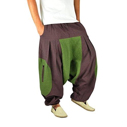 6c122c4409 chic pantalones cagados de alta calidad corte suelto para hombres y mujeres  como ropa hippie y