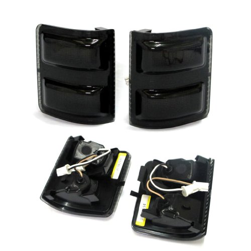 Razer Auto LED Mirror Smoke Black Lens Kit for 2008-2015 Ford F250/F350/F450/F550 Super Duty