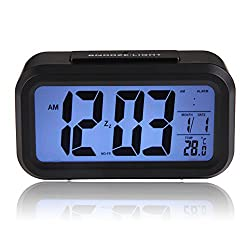 Walid-Backlight LED Display Table Alarm Clock Snooze Thermometer
