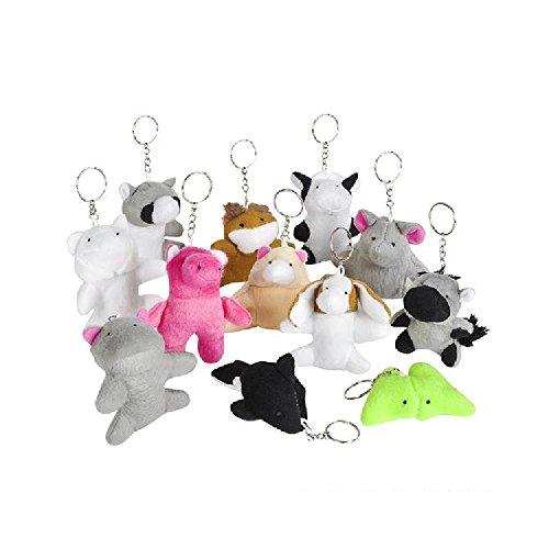 3'' Animal Bean Bag Keychain by Bargain World