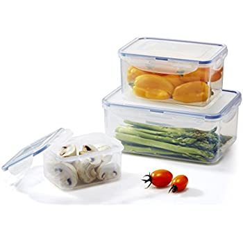 Amazoncom LOCK LOCK 6 Piece Assorted Food Storage Container Set