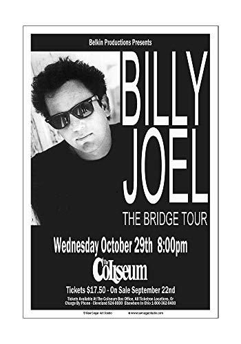 (Raw Sugar Art Studio Billy Joel 1986 Cleveland Concert Poster)