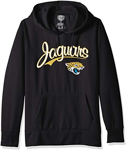 OTS NFL Jacksonville Jaguars Women's Poly Fleece Hoodie Pullover, Scripty, Small