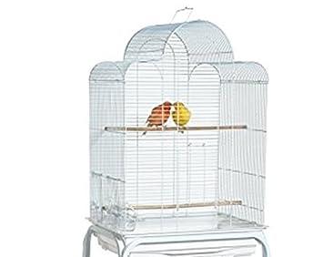 San Luis Jaula blanca para pájaros 47 x 37 x 69 cm 1 cm ...