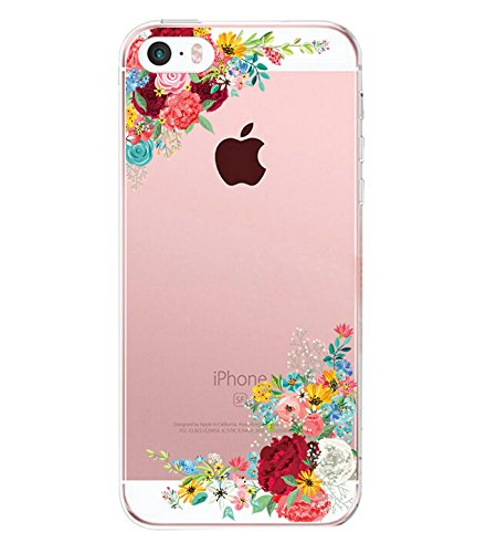 iPhone 5/5s/SE Case TPU Silicone Rubber Cute Anti-Scratch Slim Ultra Protective Clear Shock-Absorption Bumper Soft Amusing Design for Apple i Phone5 Cover (color 12, iPhone 5/5s/SE)