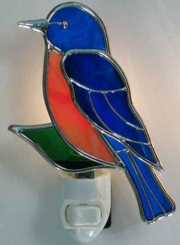 Stained Glass Bluebird Night Light