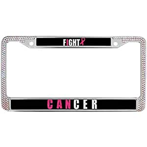 Amazon Com Baolin Onece Fuck Canser License Plate Frame
