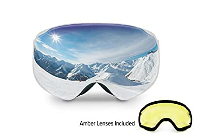 Spherion Gear Snow Goggles + Detachable Amber Lens