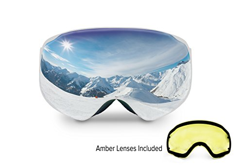 Spherion Gear Ski Goggles + Detachable Amber Lens
