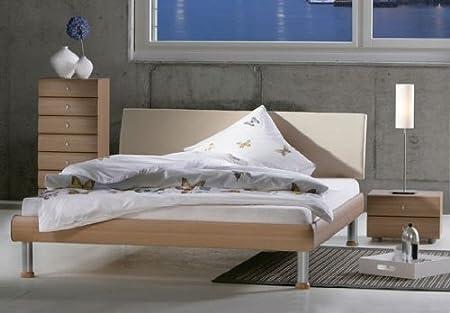 Bed 210 160.Style Bed Futon Bed Vino Beige 160 X 210 Cm Amazon Co Uk Kitchen