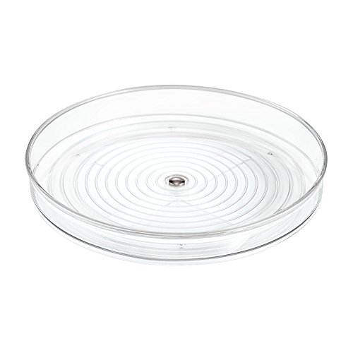 Plastic Lazy Susan - InterDesign Linus Lazy Susan Cabinet Turntable - Organizer Tray for Kitchen Pantry or Countertops - 9