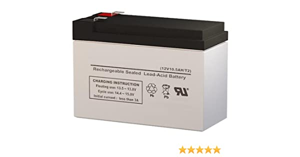 Kung Long WP10-12SE 12 Volt 10.5 AmpH SLA Replacement Battery with F2 Terminal