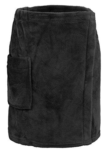 (Leisureland Men's Plush Fleece Wrap, Spa Gym Bath Wrap)