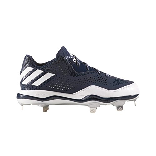 adidas PowerAlley 4 Womens Softball Cleats 6 Navy-White-Silver Met (Cleats Fastpitch Metal)