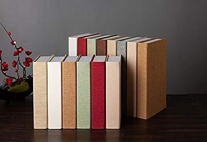 Sqbjshaop Decorazione Lino Di Puro Colore Finto Libro Decorazione