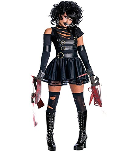GoLoveY Christmas Edward Scissorhands Costumes for Women Secret Wishes Cosplay Costume Vampire Fancy Dress Party Outfit Black