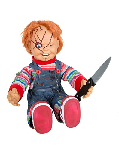 Spirit Halloween 2 Ft Talking Chucky Doll - Decorations]()
