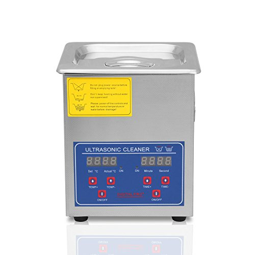 FoodKing Ultrasonic Cleaner 2L Industrial Ultrasonic Cleaner with Digital Heater Commercial Ultrasonic Cleaner for Jewelry Eyeglass Cleaning (New 2L) by FoodKing