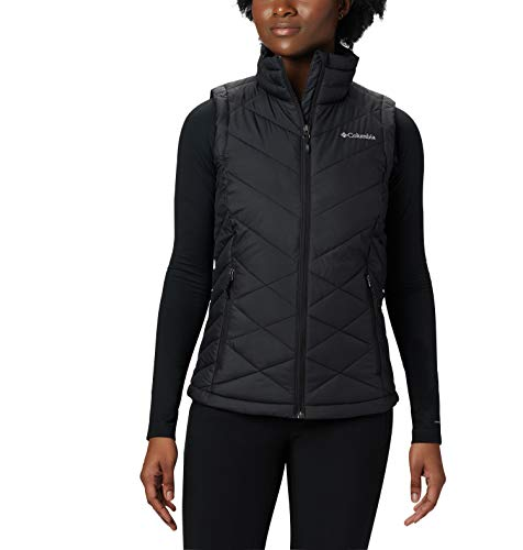 (Columbia Women's Heavenly Vest, Black, Medium)