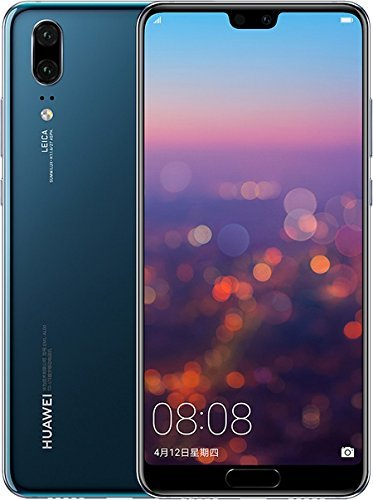 "41oM73Y 7UL - Huawei P20 EML-L29 128GB 4GB RAM, Dual SIM LTE, 5.8"", Full HD+ Display -Dual Camera 20 MP +12 MP, GSM Unlocked International Model, No Warranty (Blue)"