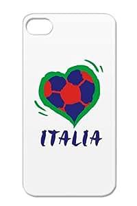 Italia TPU Anti-scratch Soccer Sports Soccer Italia Eurocup Football Euro2008 Navy Cover Case For Iphone 4s