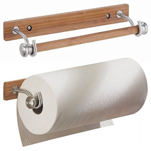 Formbu Wallmount Paper Towel Holder Bamboo/Brushed Stainless Steel