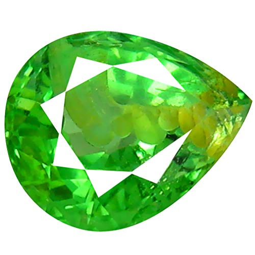 0.81 ct Pear Cut (6 x 5 mm) Un-Heated Tanzanian Tsavorite Garnet Loose Gemstone