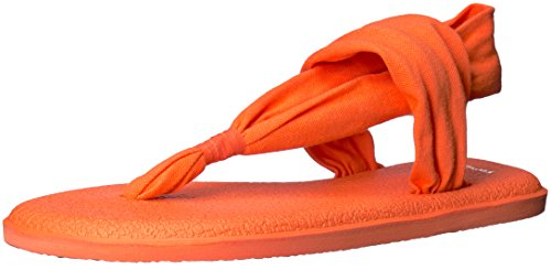 Sanuk Damen Yoga Sling#2 Spectrum Zehentrenner Orange (Nasturtium)