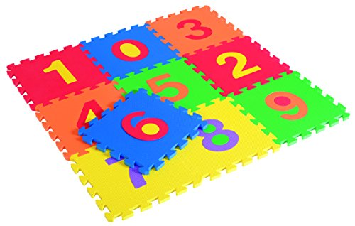Edushape Edu-Tiles Numbers, 10 Piece