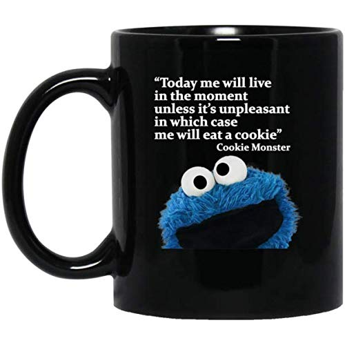 SAYOMEN - Funny Coffee Mug (11 or 15 oz) - Cookie Monster Funny Mug MUG 15oz Gift for Men or Women, Christmas, Birthday, Valentines, Mother's - Mug Cookie Gift
