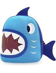 Nohoo Kids Shark Backpack 3D Cute Zoo Cartoon School Boys Girls Bags